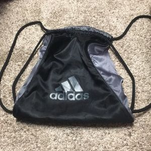 Adidas Black & silver draw straps back pack
